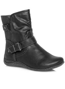 Black Comfort Ankle Boot