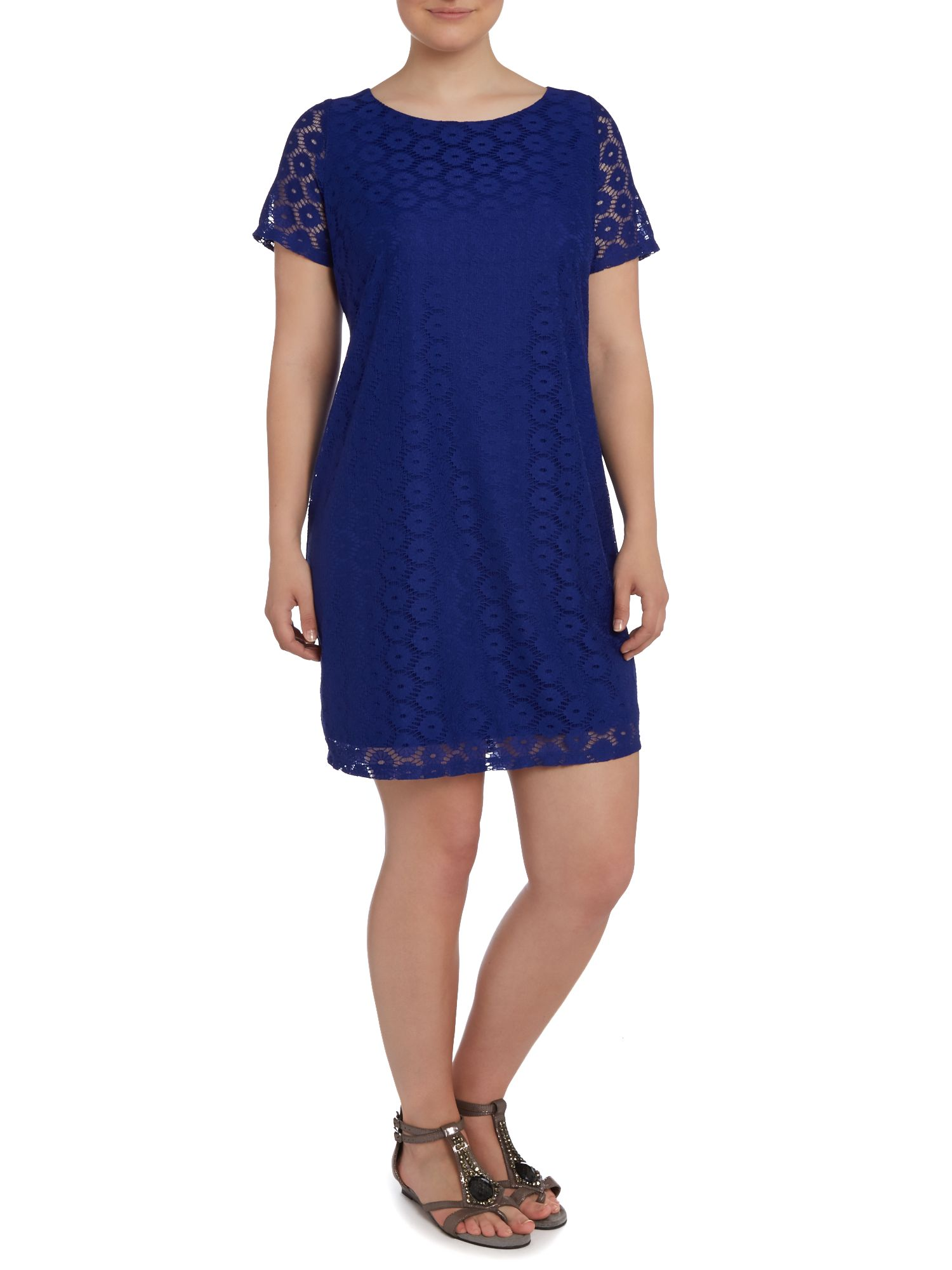 Blue lace tunic