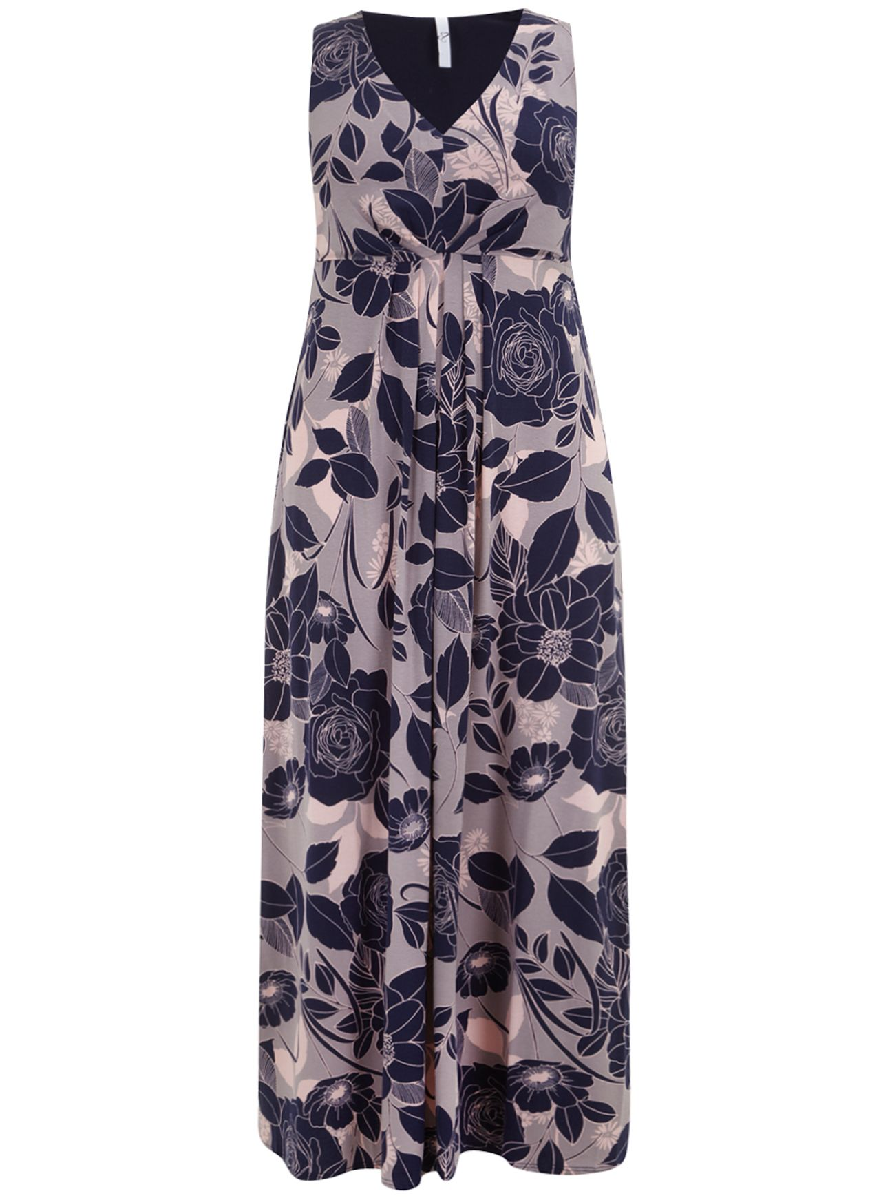Dusky pink floral maxi dress