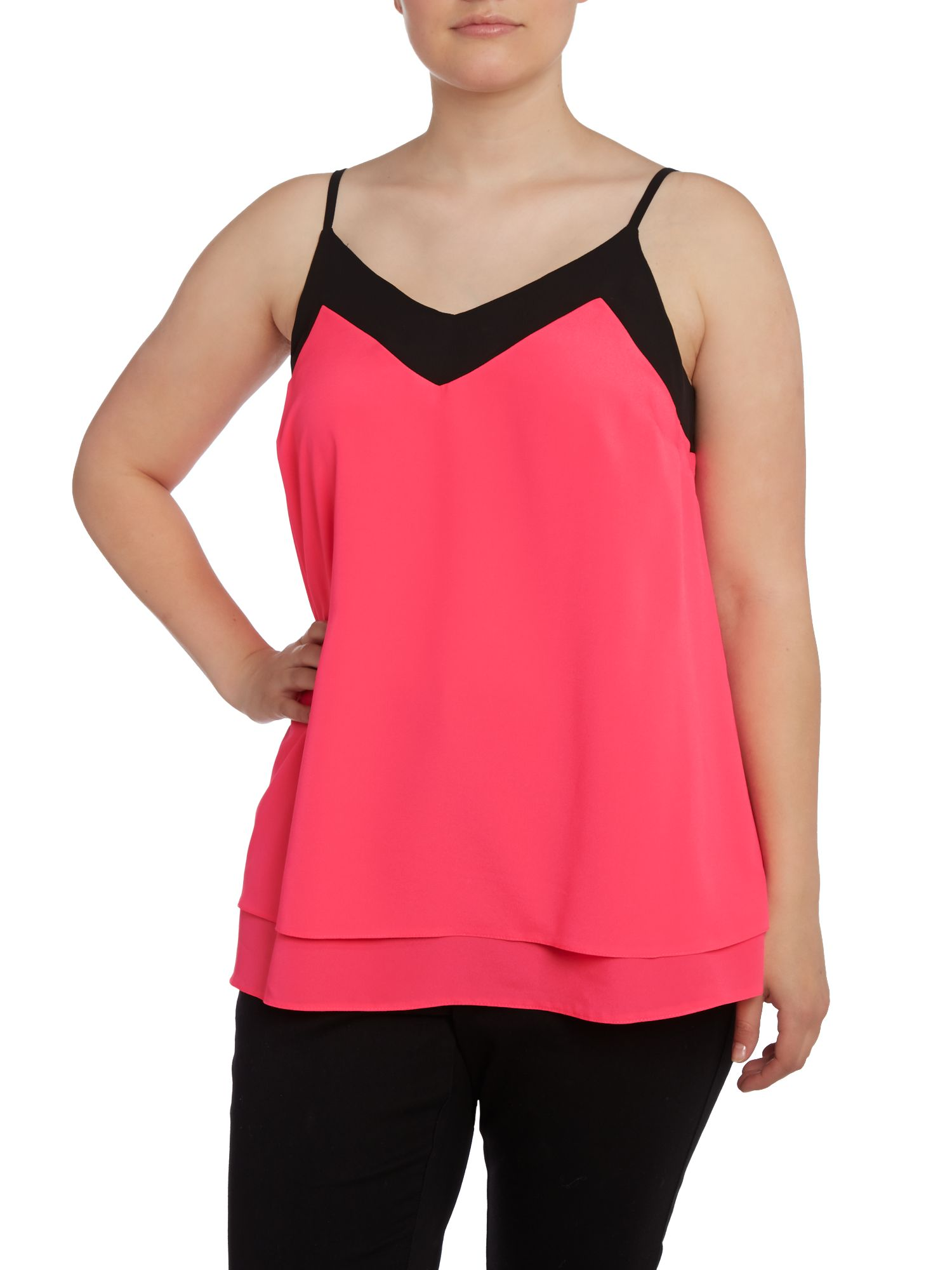 Layered swing cami