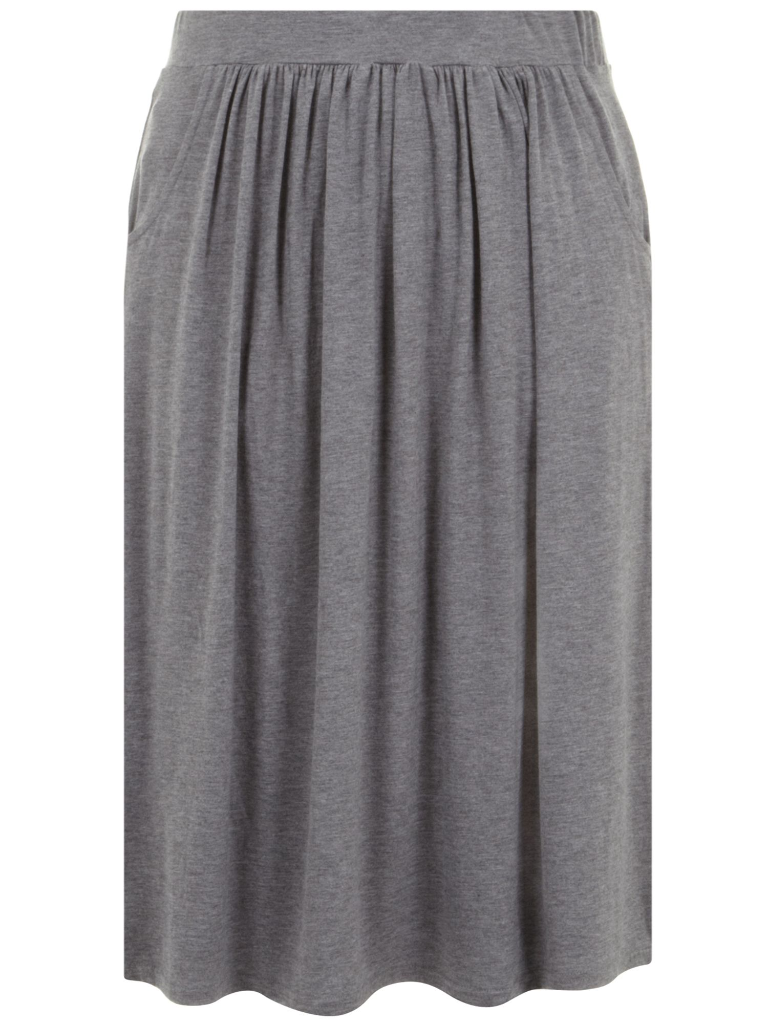 Grey marl pocket midi skirt