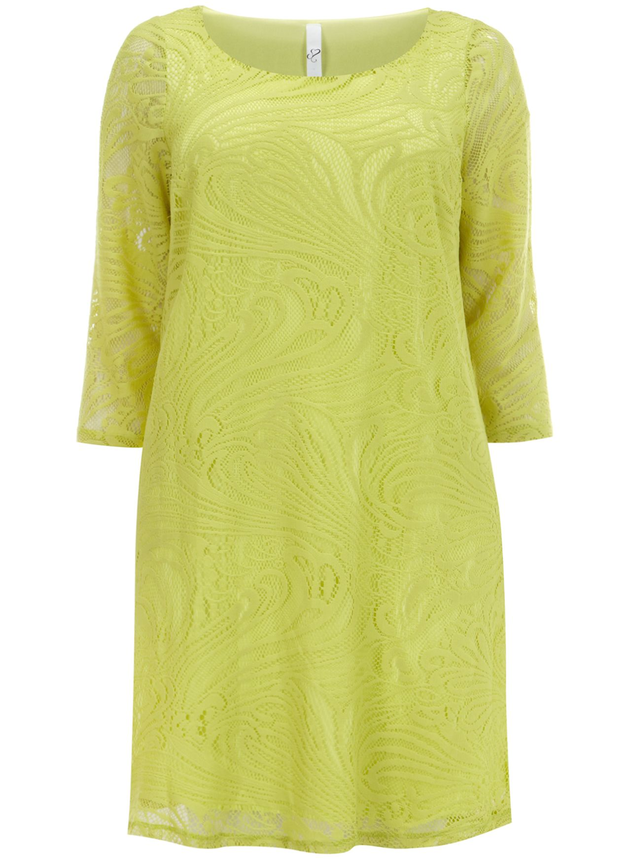 Lime lace tunic