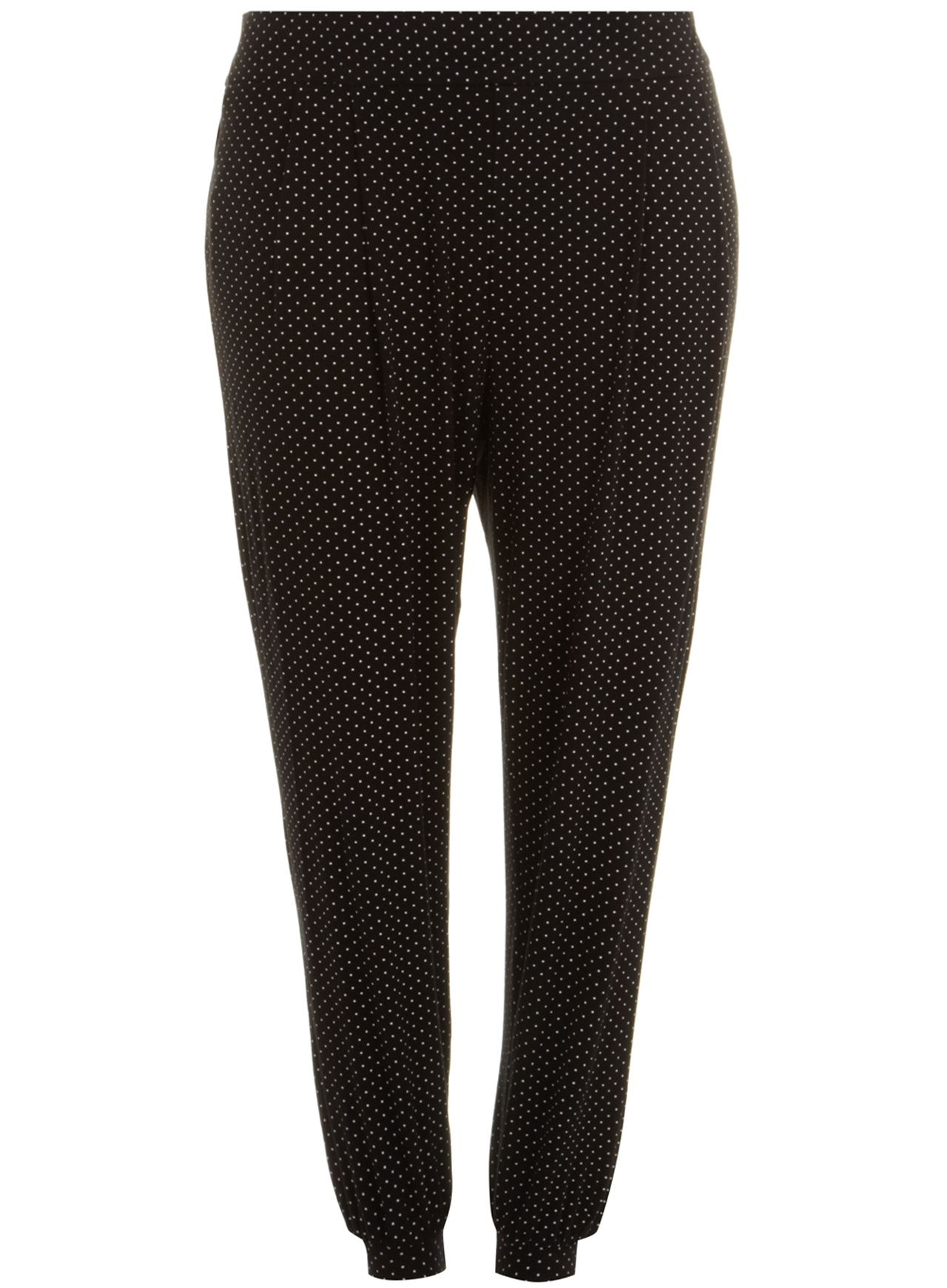 Spot print jersey tapered trouser