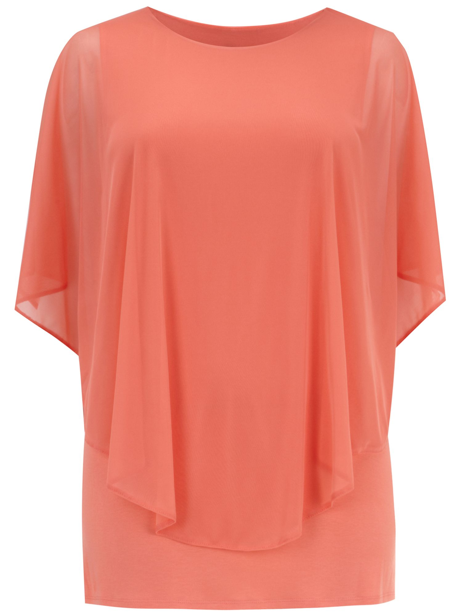 Orange mesh overlay top