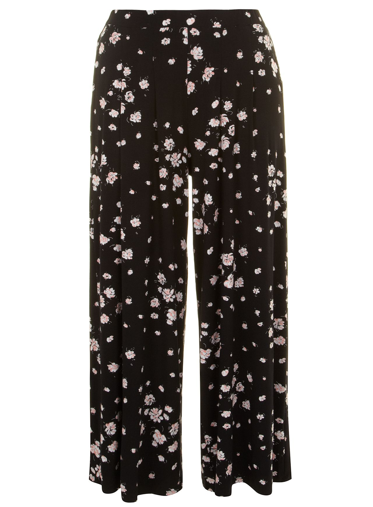 Floral printed wide leg trouser