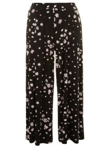 Evans Plus Size Floral printed wide leg trouser