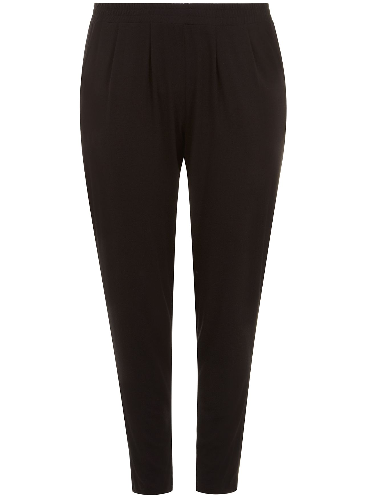 Black Jersey Tapered Trouser