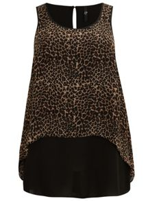 Animal print drape top