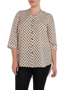 Neutral Spot Crepe Shirt