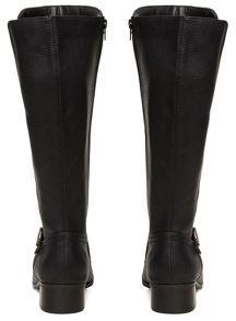 Evans Extra Wide Fit Black Long Boots