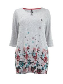 Soft Touch Floral Border Tunic