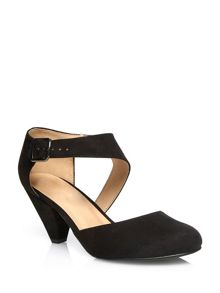 Black Suedette Cut Out Court