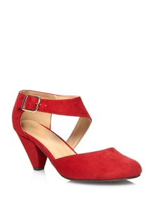 Red Suedette Cut out Court