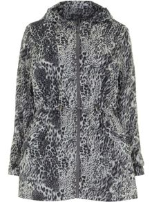 Plus Size Leopard Rain Mac