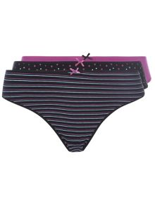 Plus Size 3 Pack of Briefs