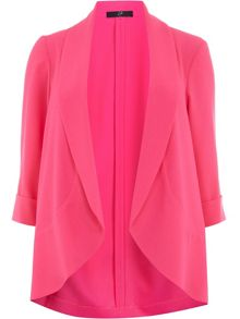 Plus Size Pink Crepe Jacket
