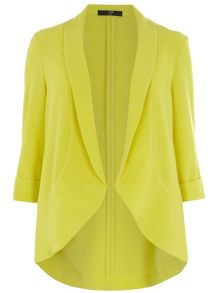 Plus Size Lime Crepe Jacket