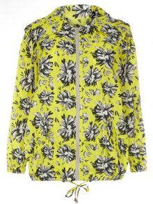 Plus Size Lime Floral Bomber Mac