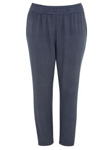 Blue Print Tapered Trousers