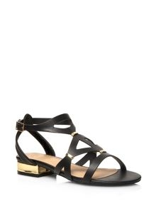 Extra Wide Fit Gladiator Block Heel Sandals