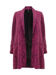 Pink daisy jacquard duster