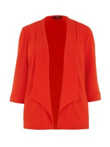 Red crepe jacket