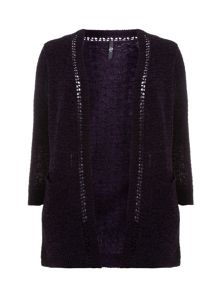 Purple Chenille Cardigan