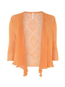 Plus Size Orange Diamond Back Shrug