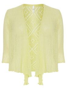 Plus Size Yellow Diamond Back Shrug