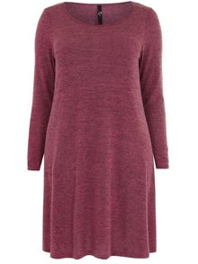 Plus Size Pink Wooltouch Tunic