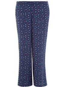 Plus Size Spot Print Wideleg Trousers