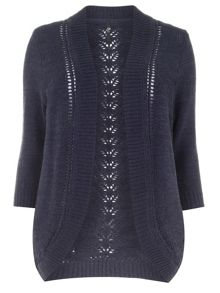 Plus Size Navy Tape Cardigan