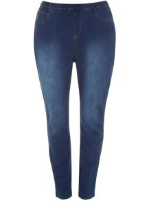 Plus Size Midwash Jeggings