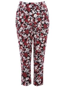 Plus Size Floral Printed Trousers