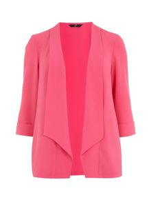 Pink shawl collar jacket