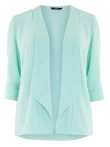 Plus Size Green Crepe Jacket
