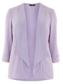 Plus Size Lilac Crepe Jacket