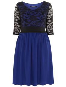 Plus Size Blue Lace Dress and Top