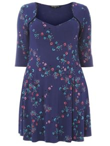 Plus Size Navy Fit and Flare Tunic