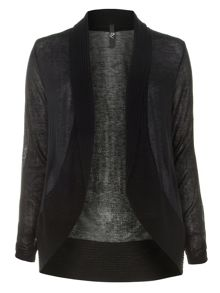 Plus Size Black Sheer Cardigan