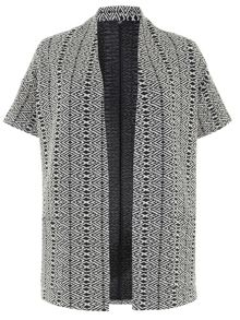 Plus Size Jacquard Textured Jacket