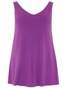 Plus Size Purple Sleeveless Vest