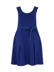 Plus Size Blue Jacquard Prom Dress