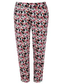 Plus Size Floral Print Tapered Trouser