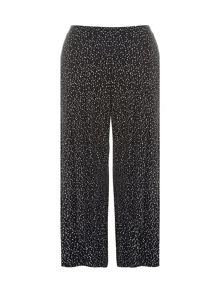 Plus Size Dot Print Wide Leg Trousers