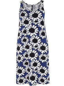 Plus Size Daisy Print Swing Dress