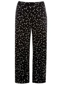 Evans Plus Size Daisy Print Wide Leg Trousers