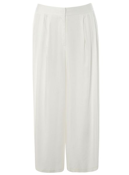 Evans Plus Size Ivory Wide Leg Trousers