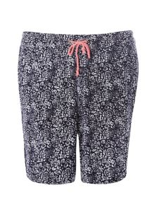 Plus Size Navy and White Crinkle Shorts