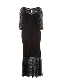 Black Fishtail Maxi Dress